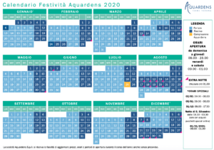 Calendario Aquardens