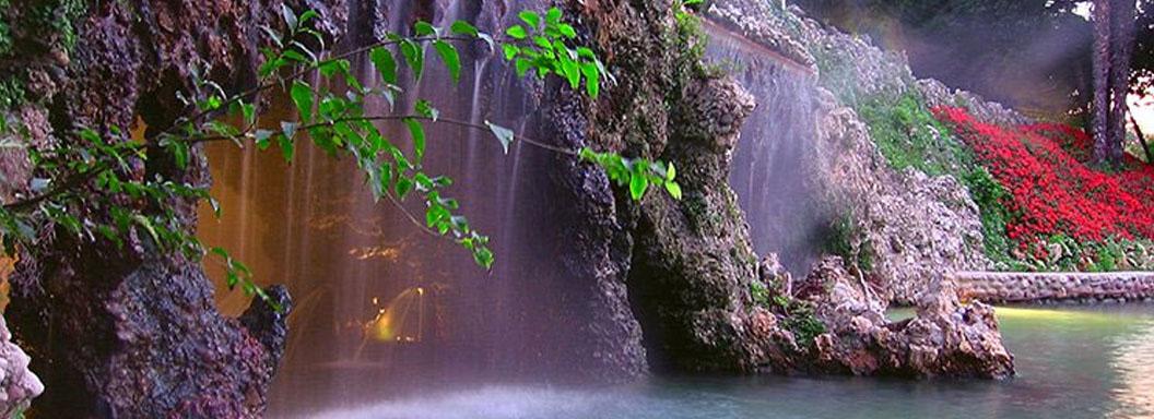 Villa dei Cedri cascate acqua